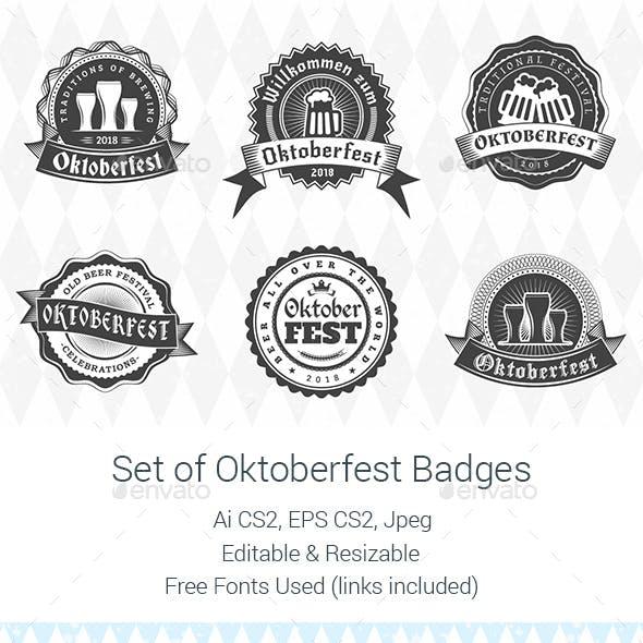 Set of Oktoberfest Badges