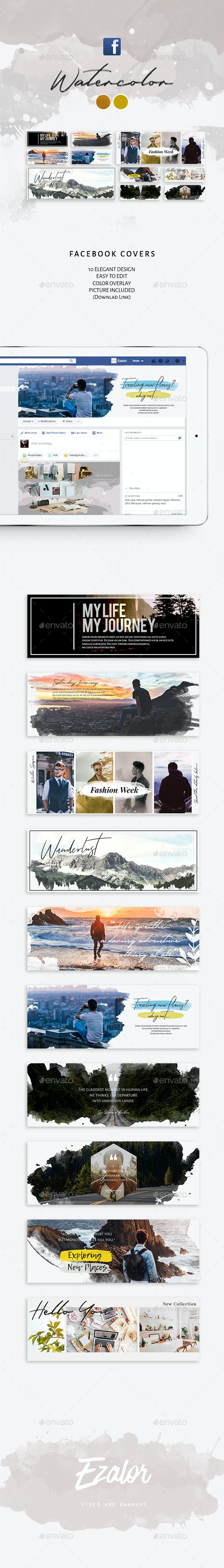 Facebook Covers Watercolor - Facebook Timeline Covers Social Media
