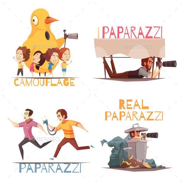 Paparazzi Characters Design Concept