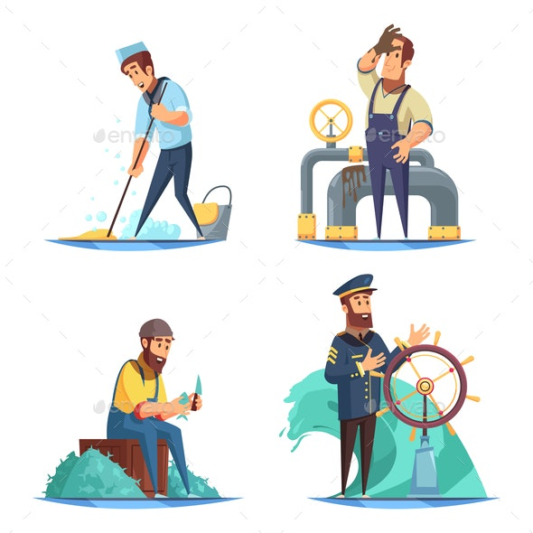 Nautical 2x2 Design Concept - People Characters