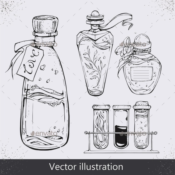 Bottles of Elixer - Miscellaneous Vectors