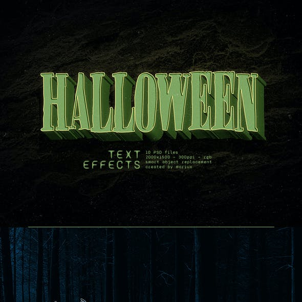 Halloween Text Effects