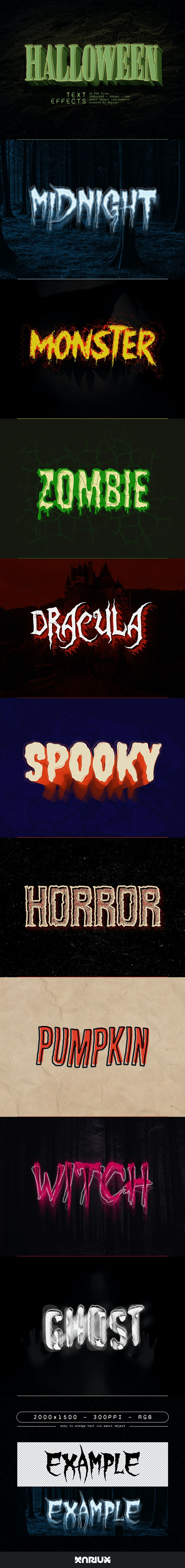 Halloween Text Effects - Text Effects Actions