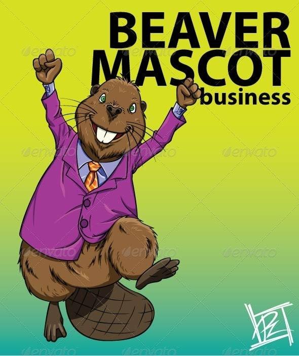 Beaver Mascot Business - Animals Characters