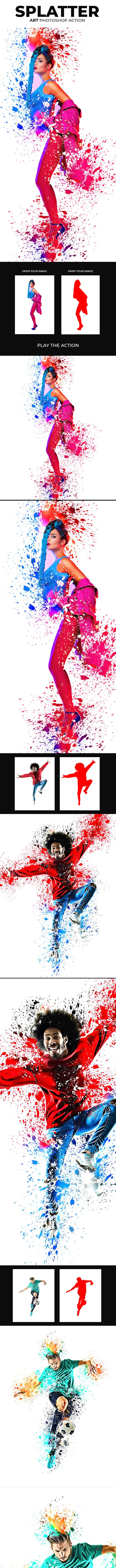Splatter Art Photoshop Action - Photo Effects Actions