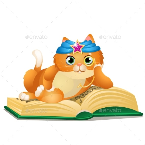 Smart Cat Reads Book - Animals Characters