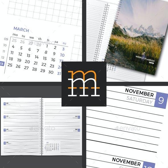 Weekly Planner 2019