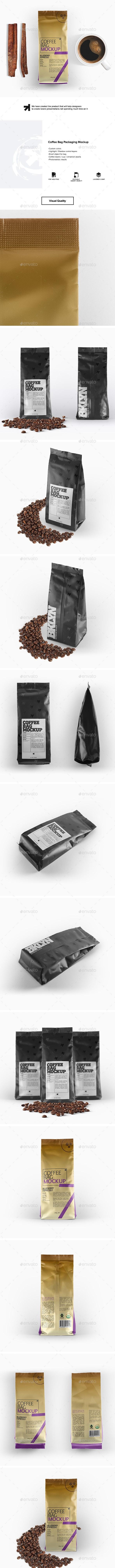Coffee Bag Packaging Mockup - Food and Drink Packaging