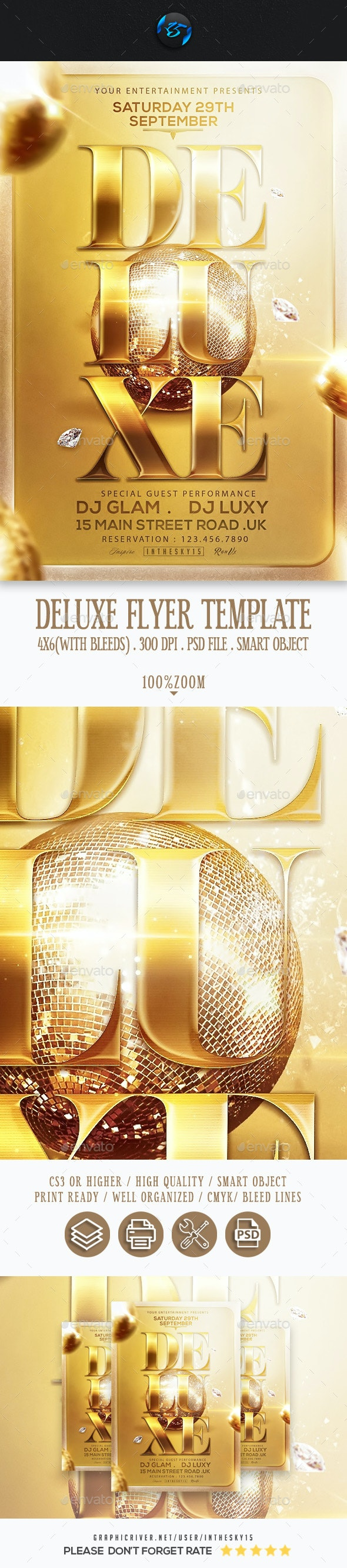 Deluxe Flyer Template - Events Flyers