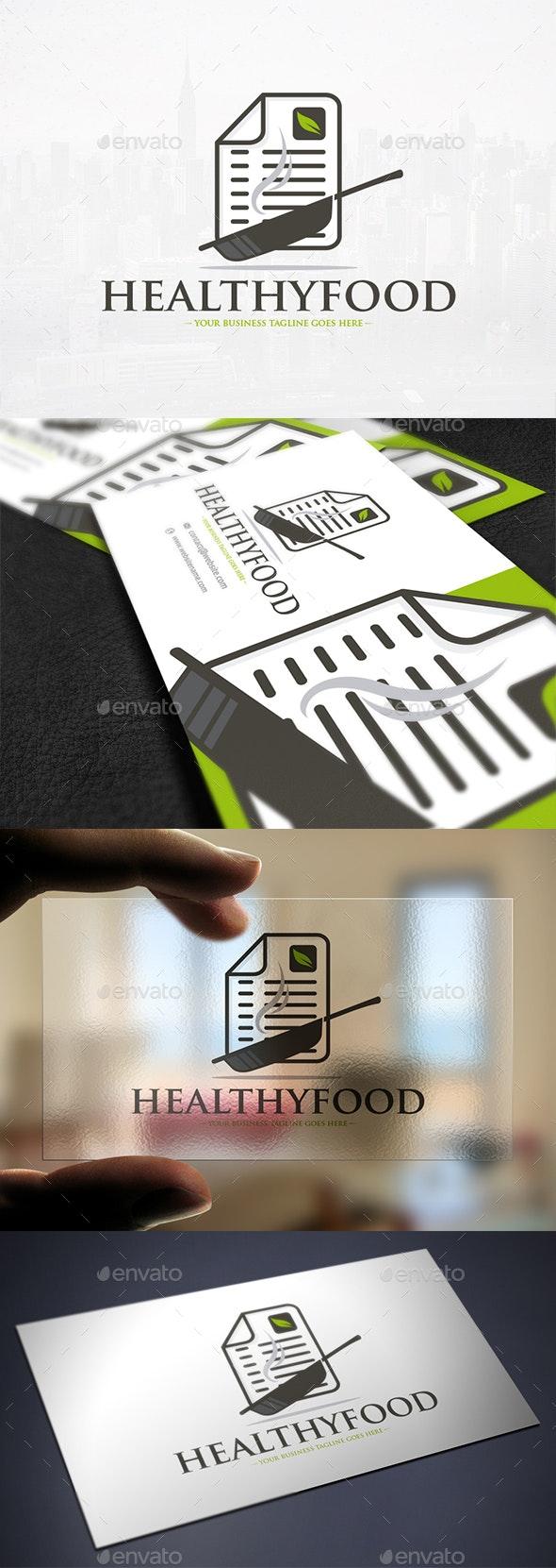 Food Recipe Blog Logo - Objects Logo Templates