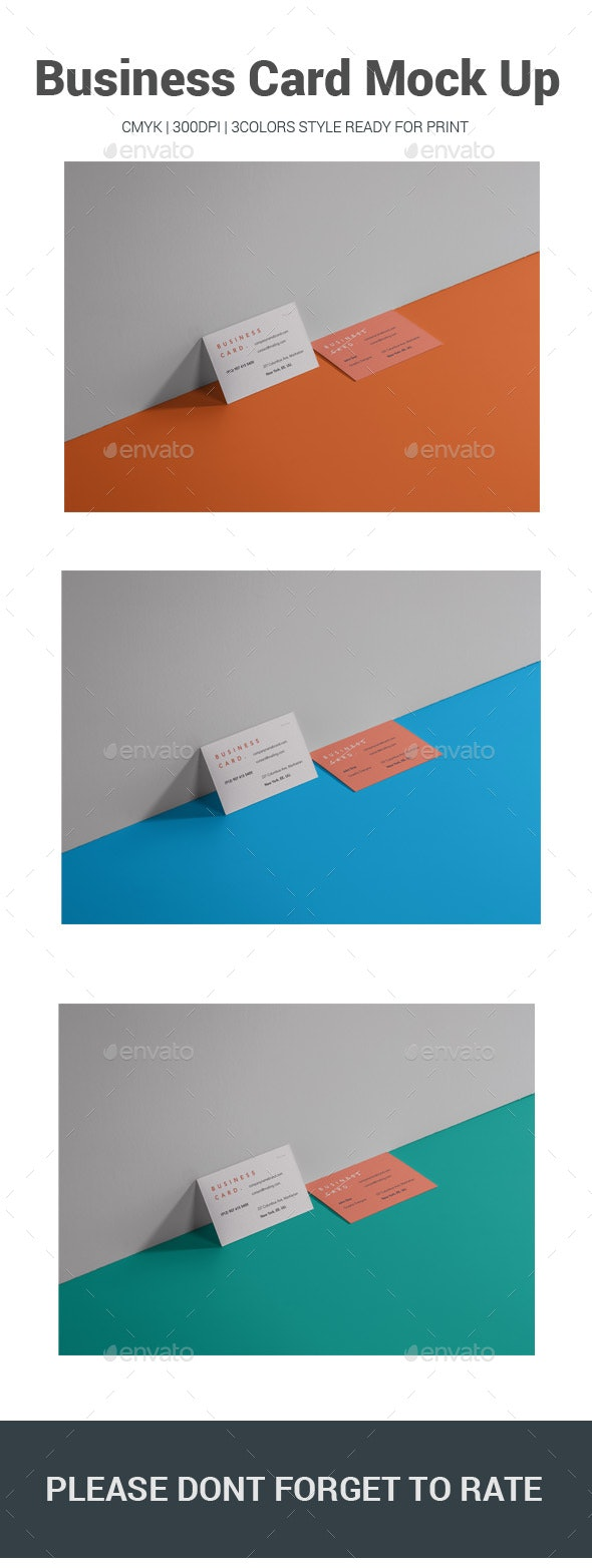 Business Card Mock Up - Business Cards Print Templates