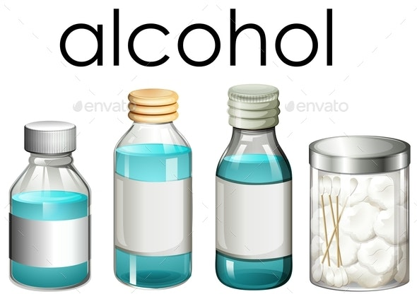 A Set Of Medical Alcohol - Man-made Objects Objects