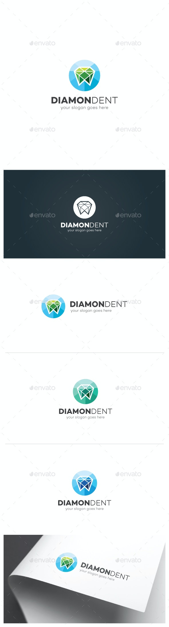 Diamond Tooth Logo - Objects Logo Templates