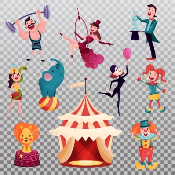 Isolated Circus Performers