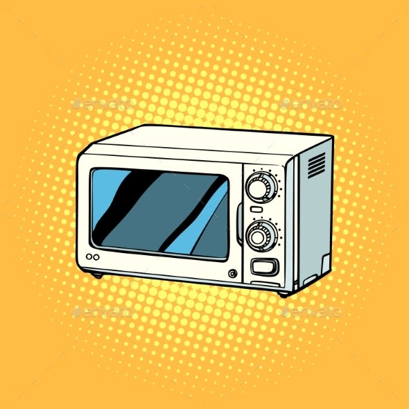 Microwave Oven Kitchen Equipment - Man-made Objects Objects