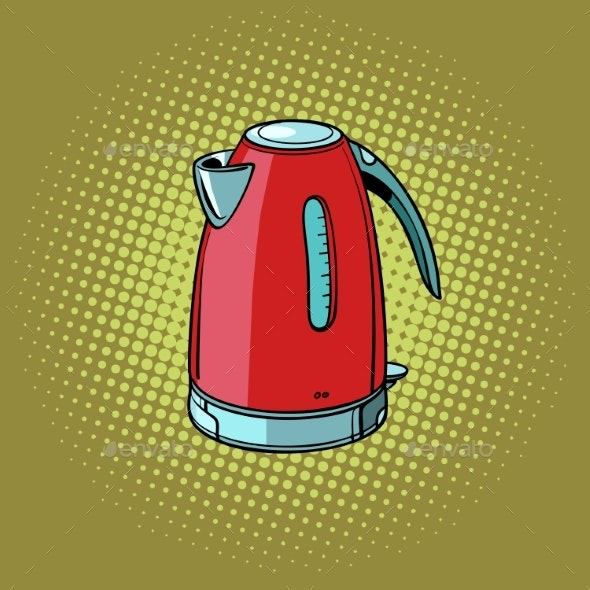 Electric Kettle Kitchen Equipment - Man-made Objects Objects