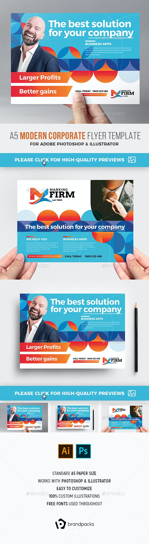 Modern Corporate Flyer Template - Corporate Flyers