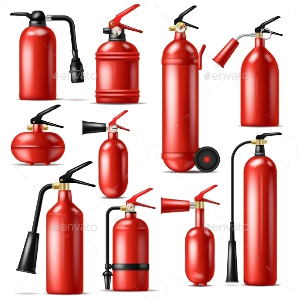 Fire Extinguisher Vector - Man-made Objects Objects