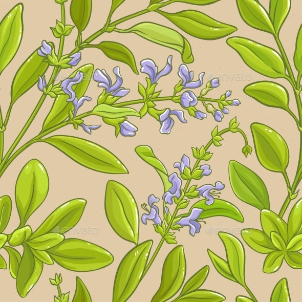 Sage Vector Pattern - Food Objects