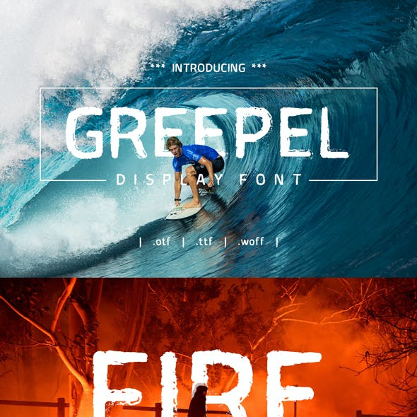 Greepel Display Grunge Font