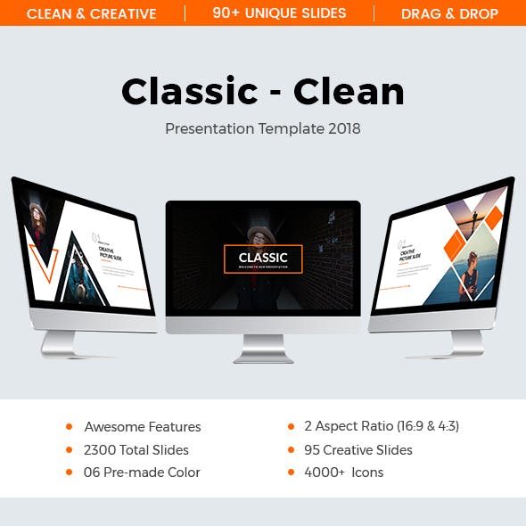 Classic - Clean 3 In 1 Powerpoint Template Bundle
