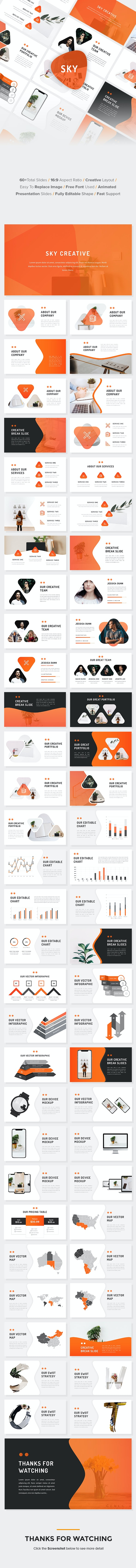 Sky - Business PowerPoint Template - Business PowerPoint Templates