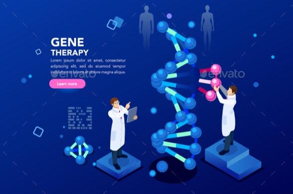 DNA Molecule Helix Blue Background - Health/Medicine Conceptual