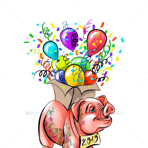 Chinese Zodiac Sign Year of Pig