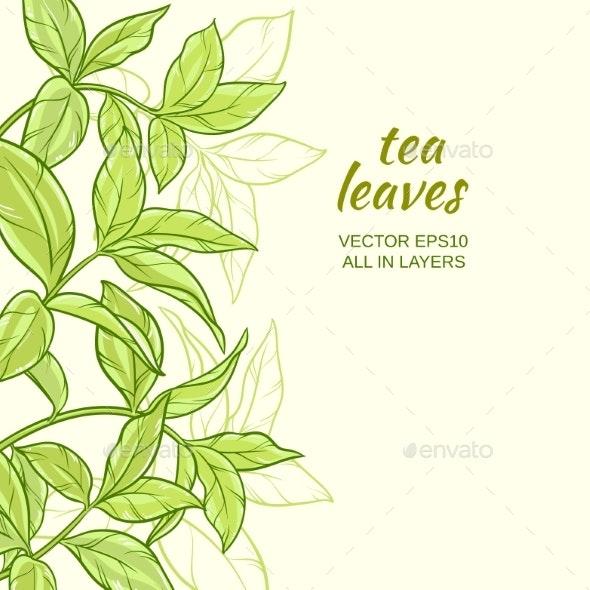 Tea Leaves Background - Flowers & Plants Nature