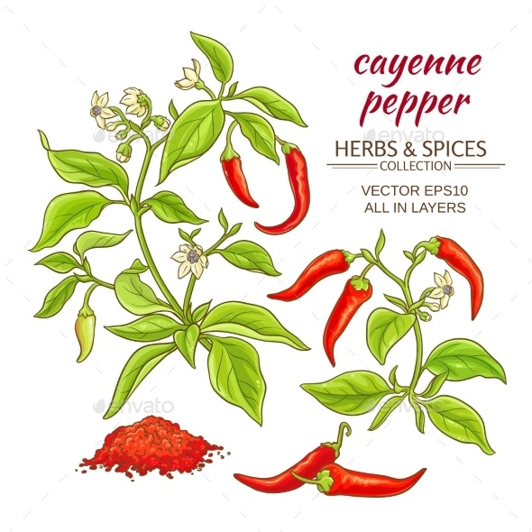 Cayenne Pepper Set - Food Objects