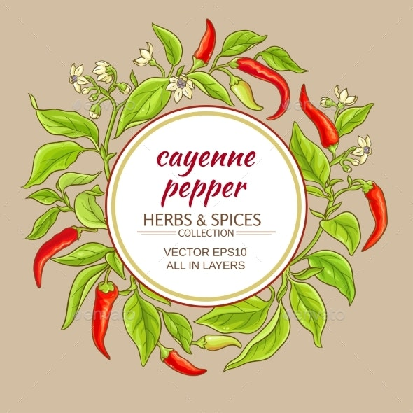 Cayenne Pepper Frame - Food Objects