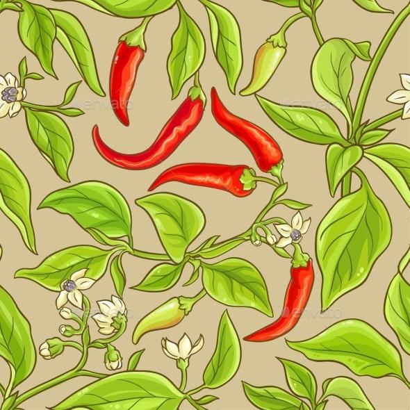 Cayenne Pepper Pattern - Food Objects