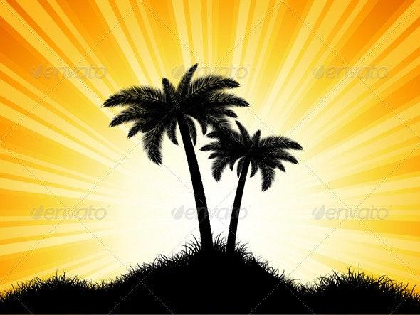 Palm Tree Background - Landscapes Nature