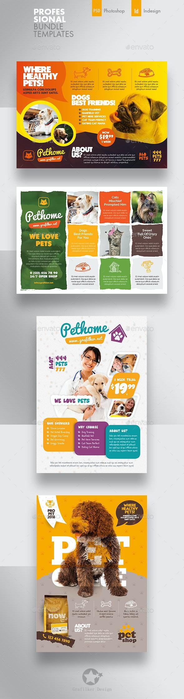 Petshop Flyer Bundle Templates - Corporate Flyers