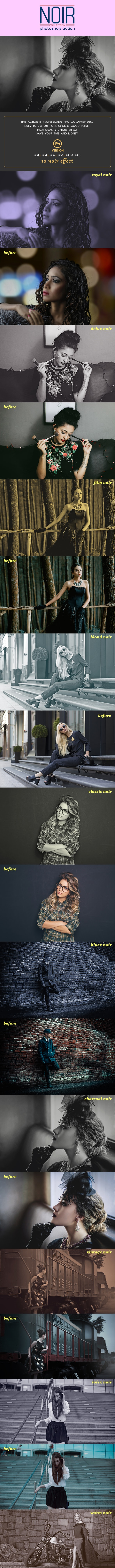 10 Noir Collection Photoshop Action - Photo Effects Actions