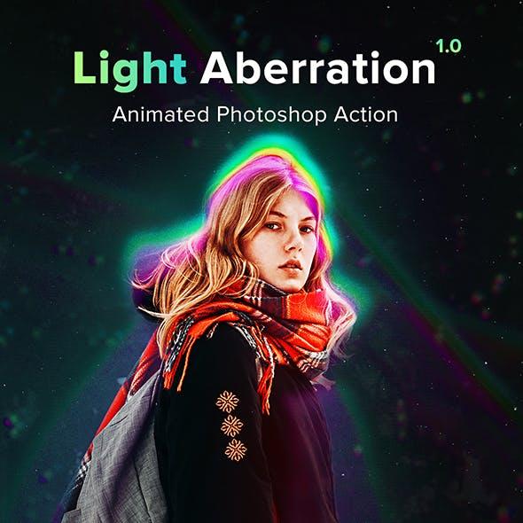 Animated Light Aberration - Photoshop Action