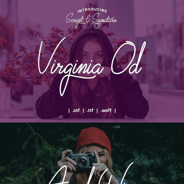 Virginia Od Scrip Font