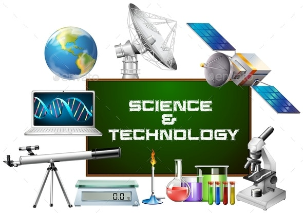 Science And Technology Equipments - Objects Vectors