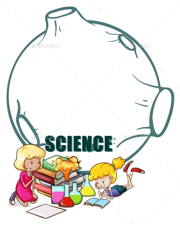 Two Girls And Science Equipment - People Characters