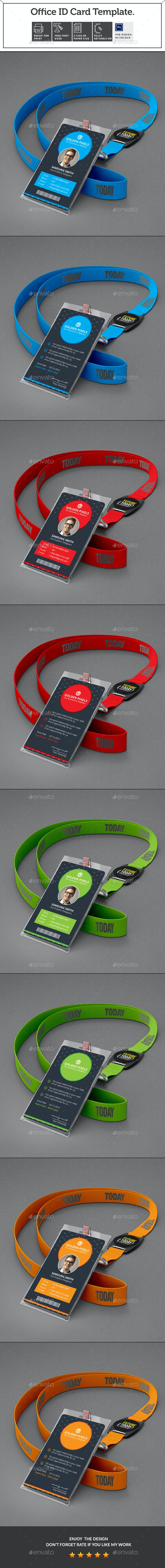 Office ID Card - Miscellaneous Print Templates