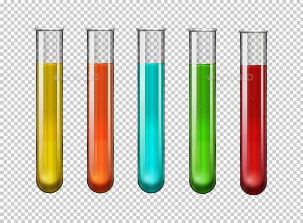 Colorful Chemical In Test Tubes - Health/Medicine Conceptual