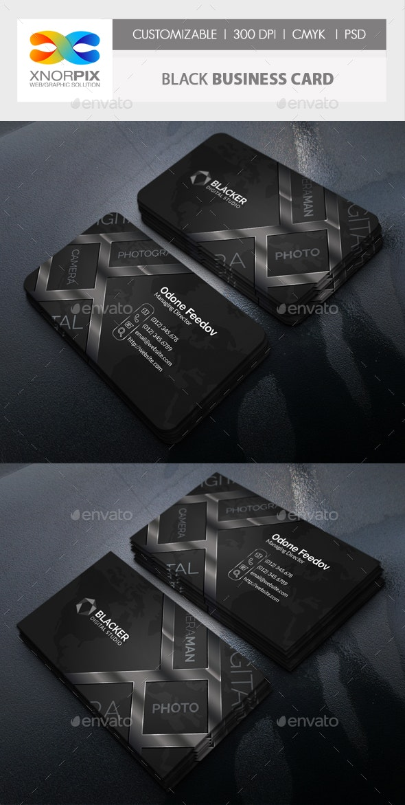Black Business Card - Creative Business Cards