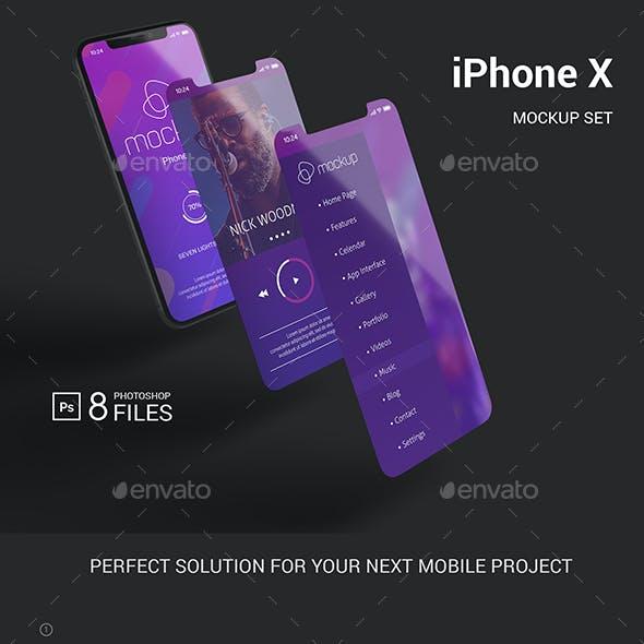 Phone X Mockup Set