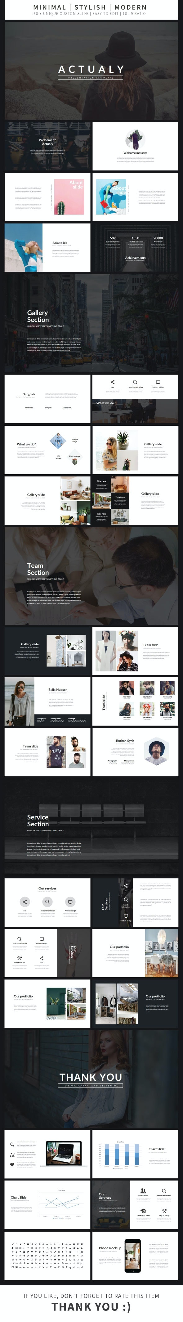 Actualy Presentation Template - Business PowerPoint Templates