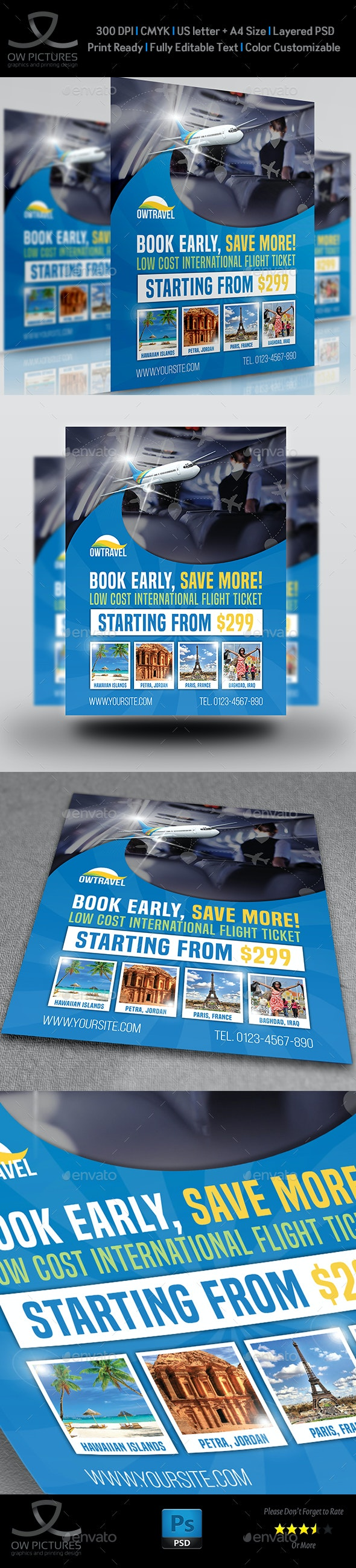 Travel Company Flyer Template Vol.3 - Holidays Events