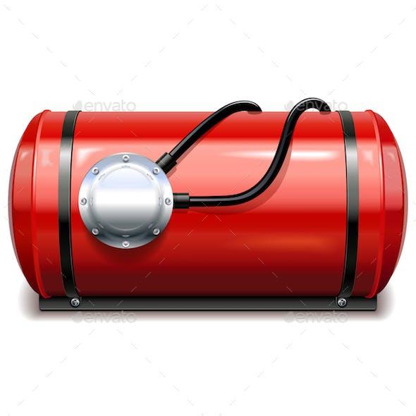 Vector Car Gas Equipment