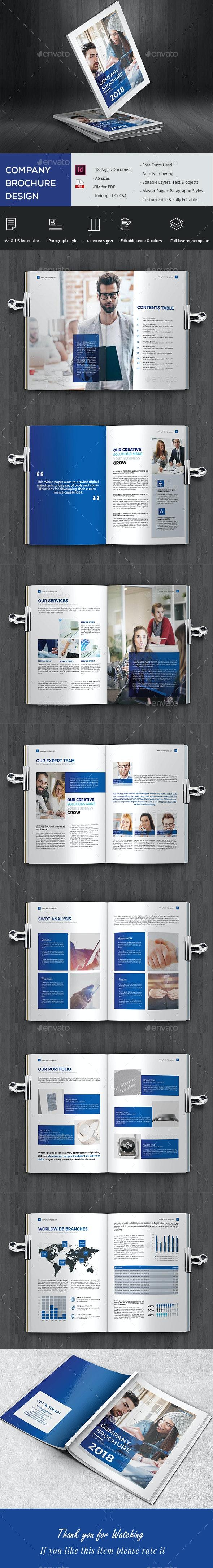 Elegant Company Brochure - Brochures Print Templates