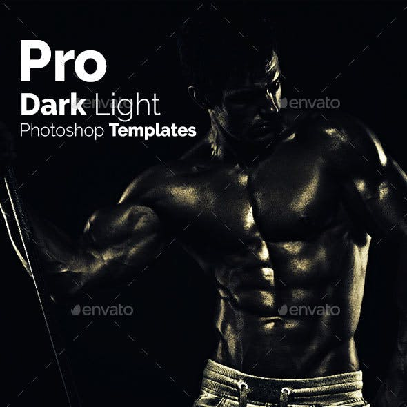 Pro Dark Light Photoshop Templates