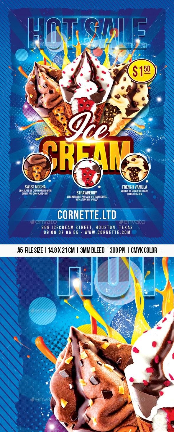 Ice-Cream Flyer - Restaurant Flyers