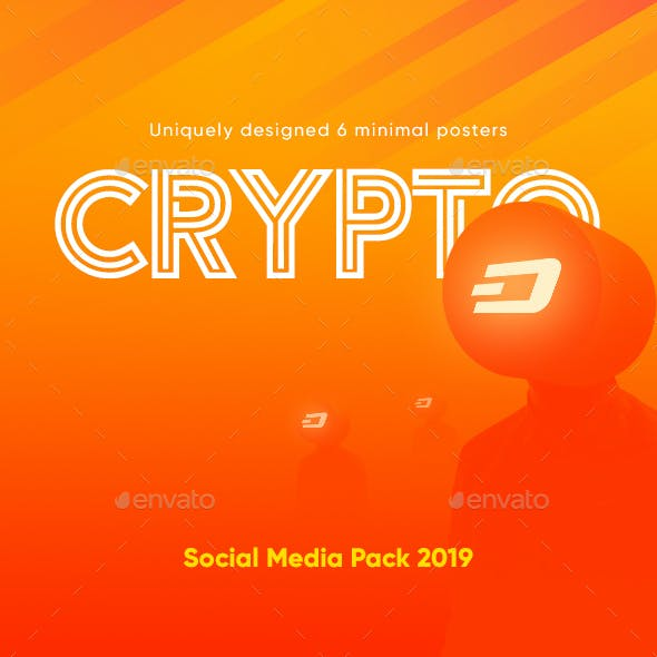 6 Cryptocurrency Minimal Social Media Banners